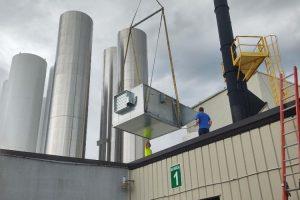 Cheese Plant Make Up Air Install