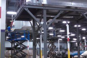 Indoor Industrial Make Up Air Installation
